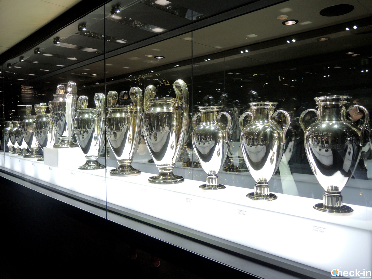 Le 12 Champions League vinte dal Real Madrid - Tour dello stadio Bernabéu