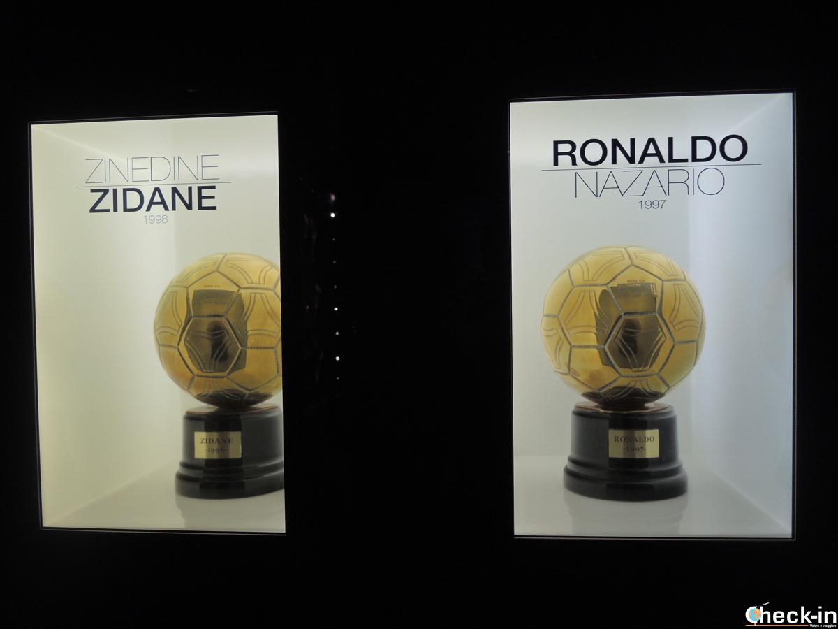 I Palloni d'Oro vinti da Zidane e Ronaldo al Real Madrid