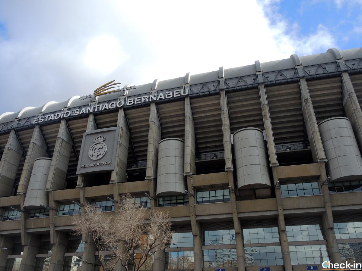 """Lo stadio """"Santiago Bernabéu"""", la casa del Real Madrid nel barrio di Chamartín"""