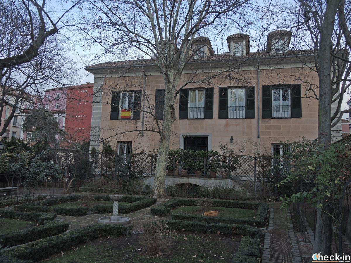 Il giardino del Palacio del Príncipa de Anglona a Madrid
