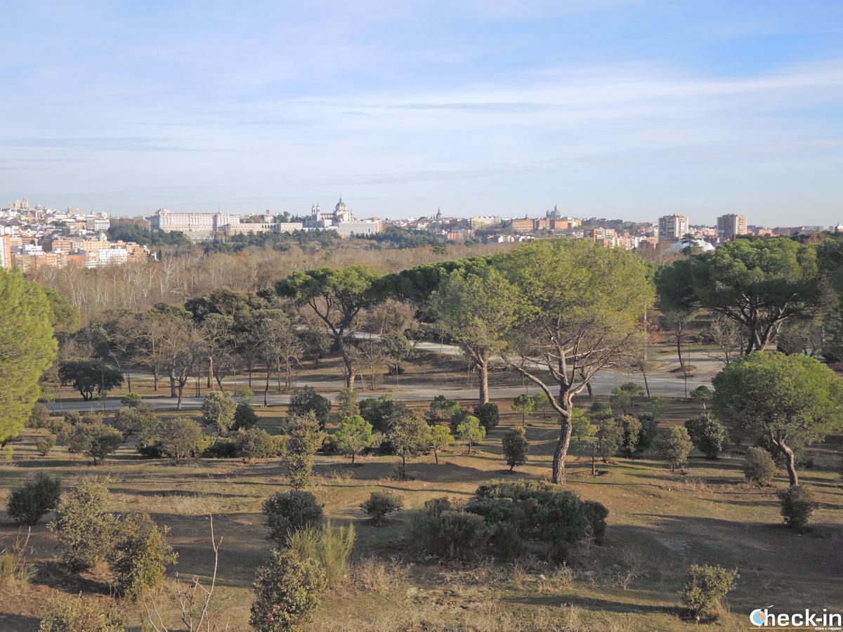 Vista panoramica di Madrid da Casa de Campo