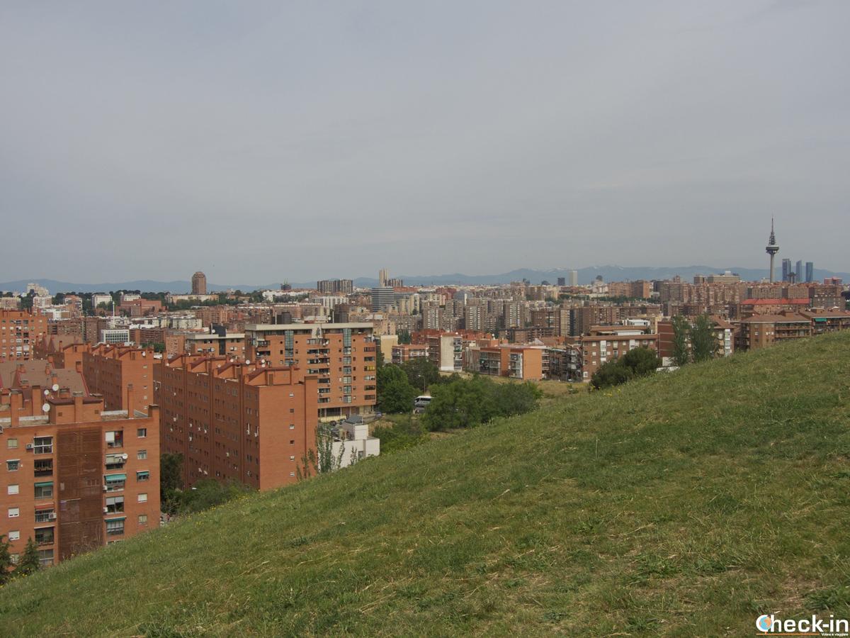 """Il """"Parque Cerro del Tío Pío"""" nel barrio Vallecas di Madrid"""