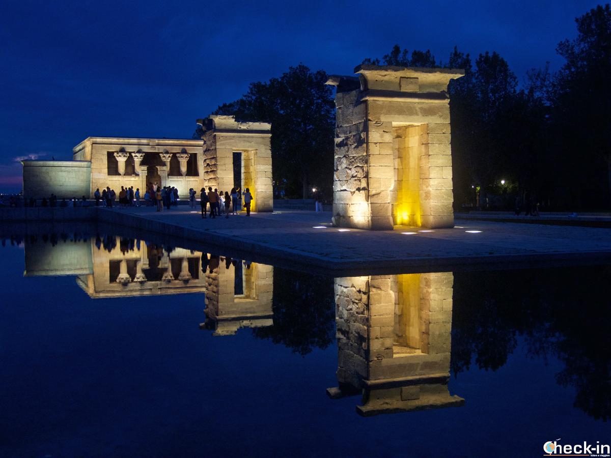 Il Templo de Debod nel Parque del Oeste di Madrid