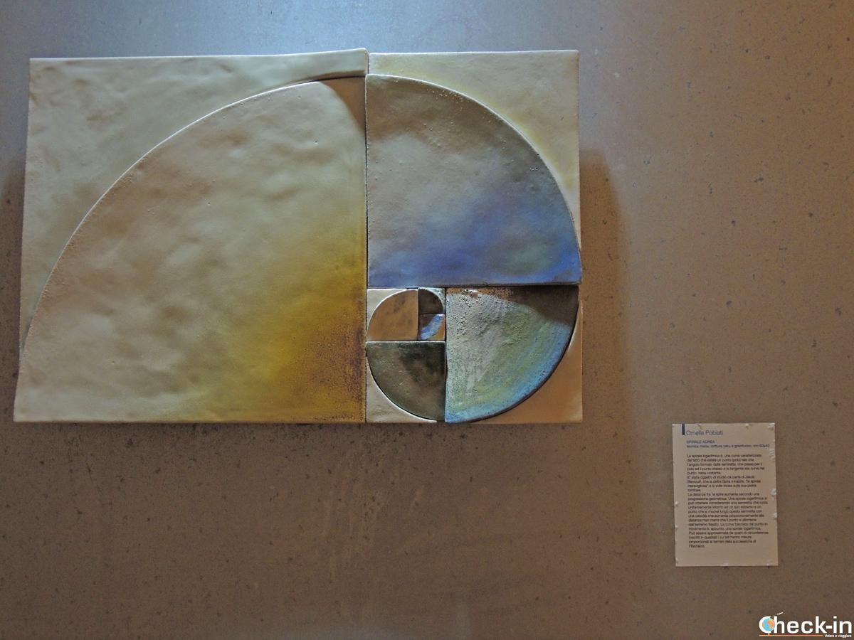 """Opera della mostra """"Artisti per la matematica"""" a Celle Ligure"""