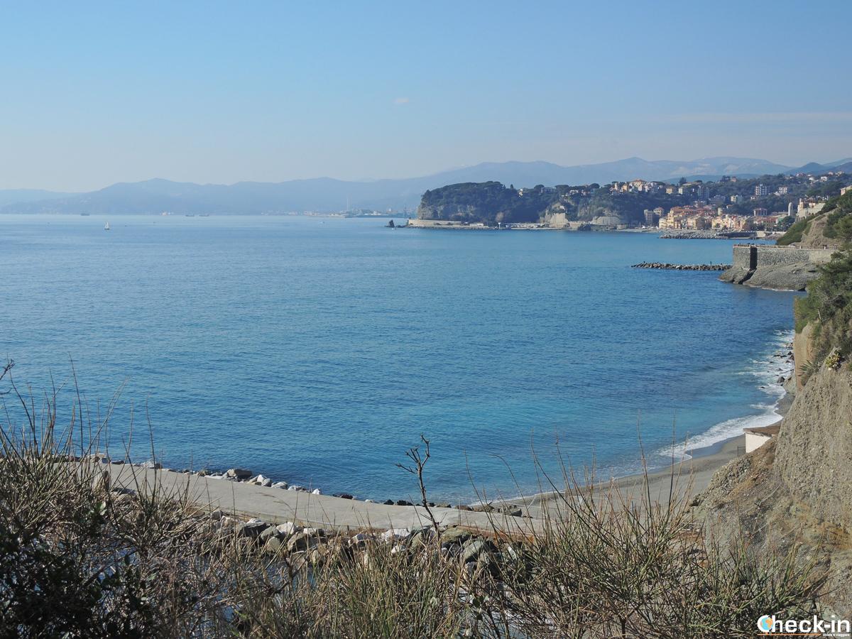 Spiaggia colonia marina del Cottolengo tra Varazze e Celle Ligure