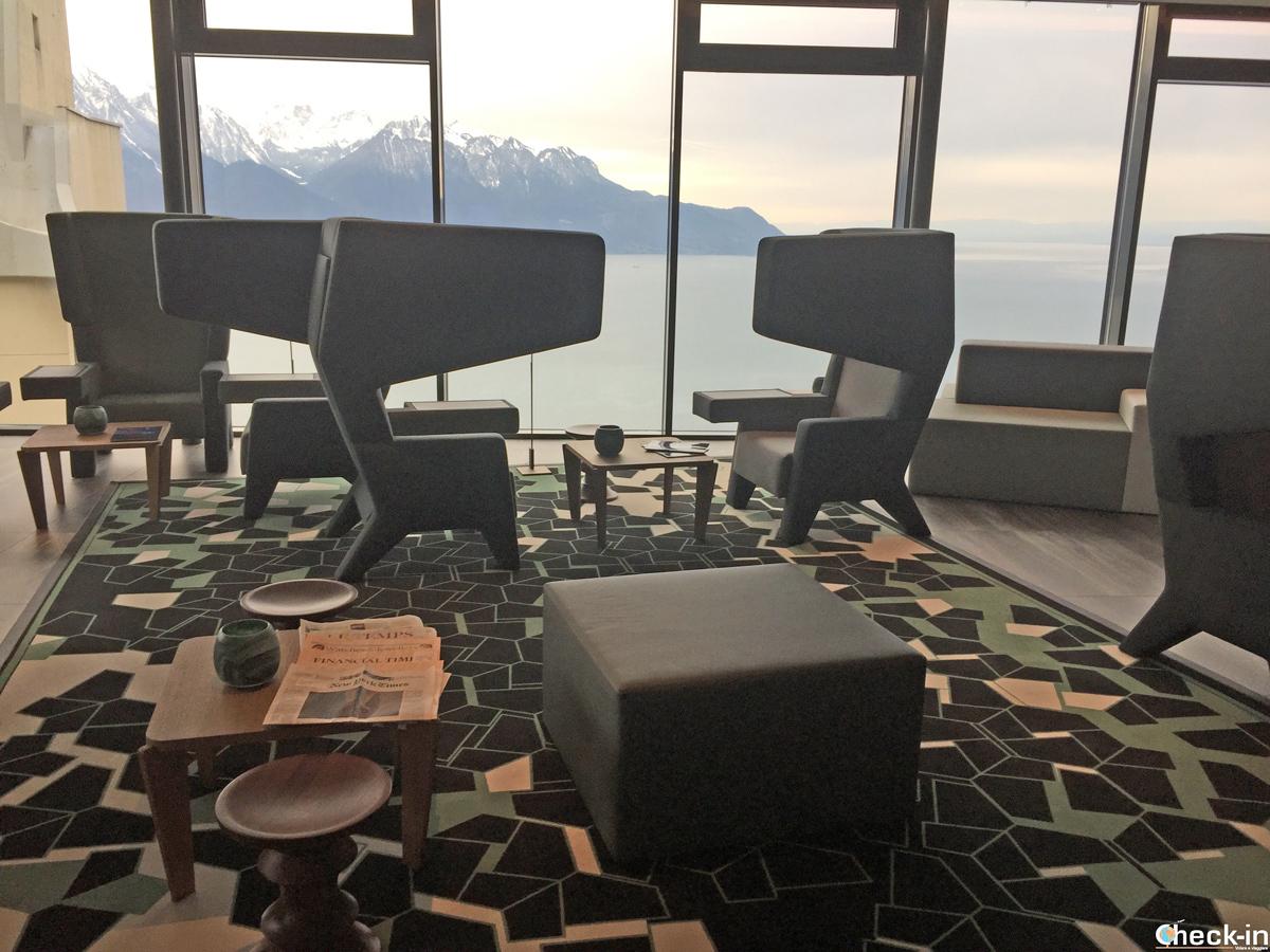 La reception del Bar-Ristorante Bellevue di Glion - Montreux, Svizzera