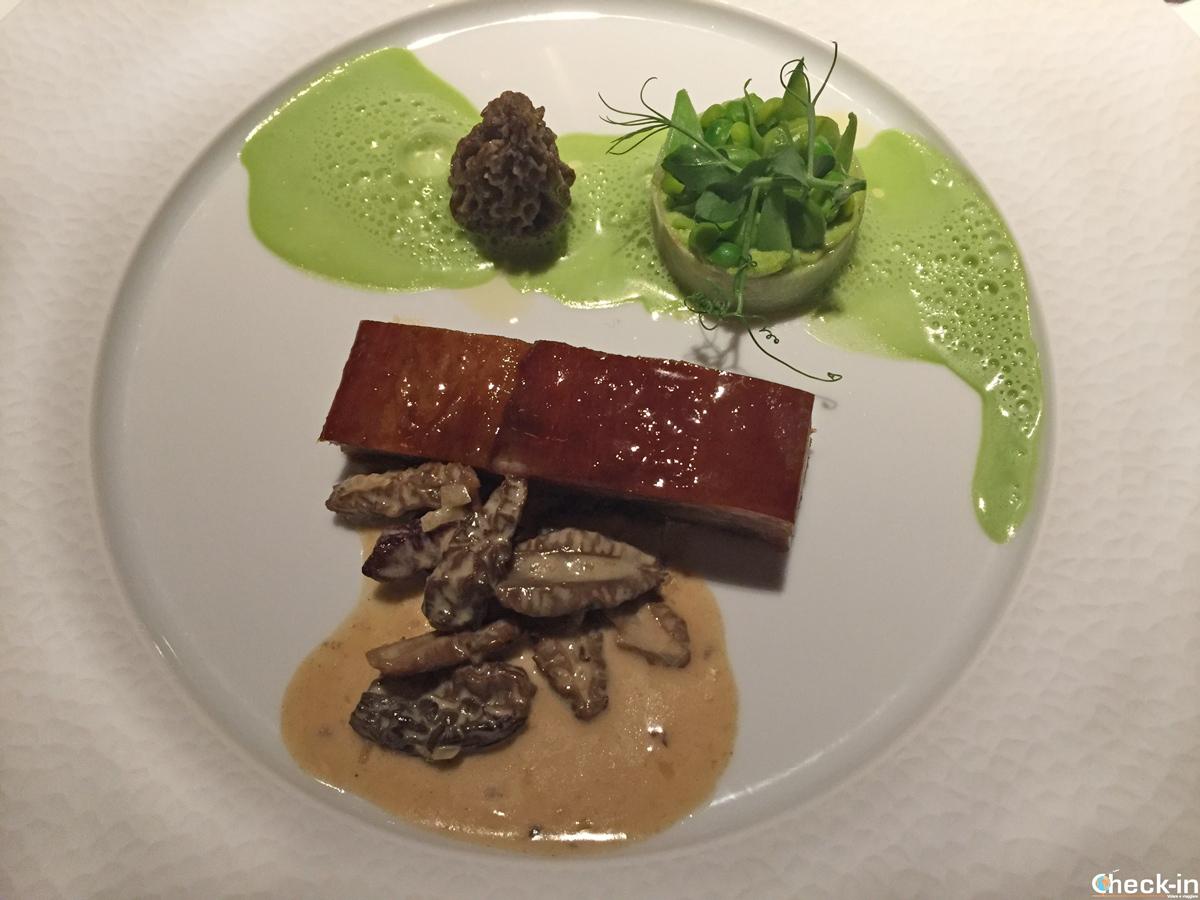Piatto di carne del Ristorante Bellevue di Montreux