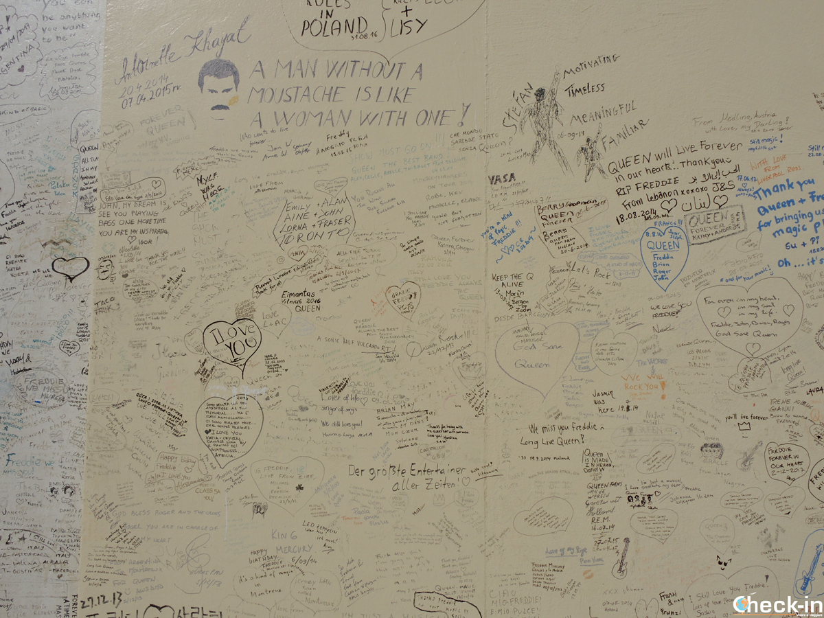 "Il ""Queen Tribute Wall"" al Casinò di Montreux"