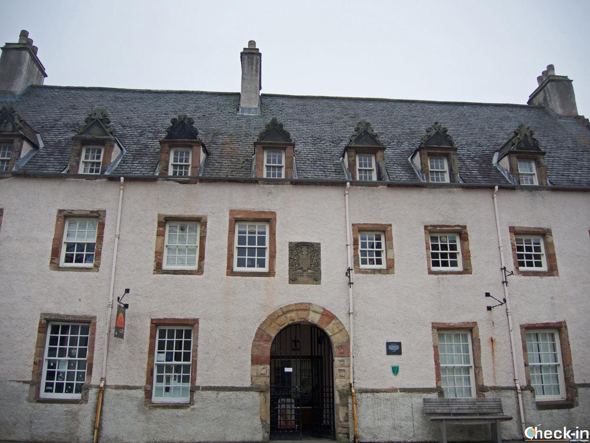 Scorcio del Dunbar's Hospital, l'antico ospedale di Inverness riservato ai poveri