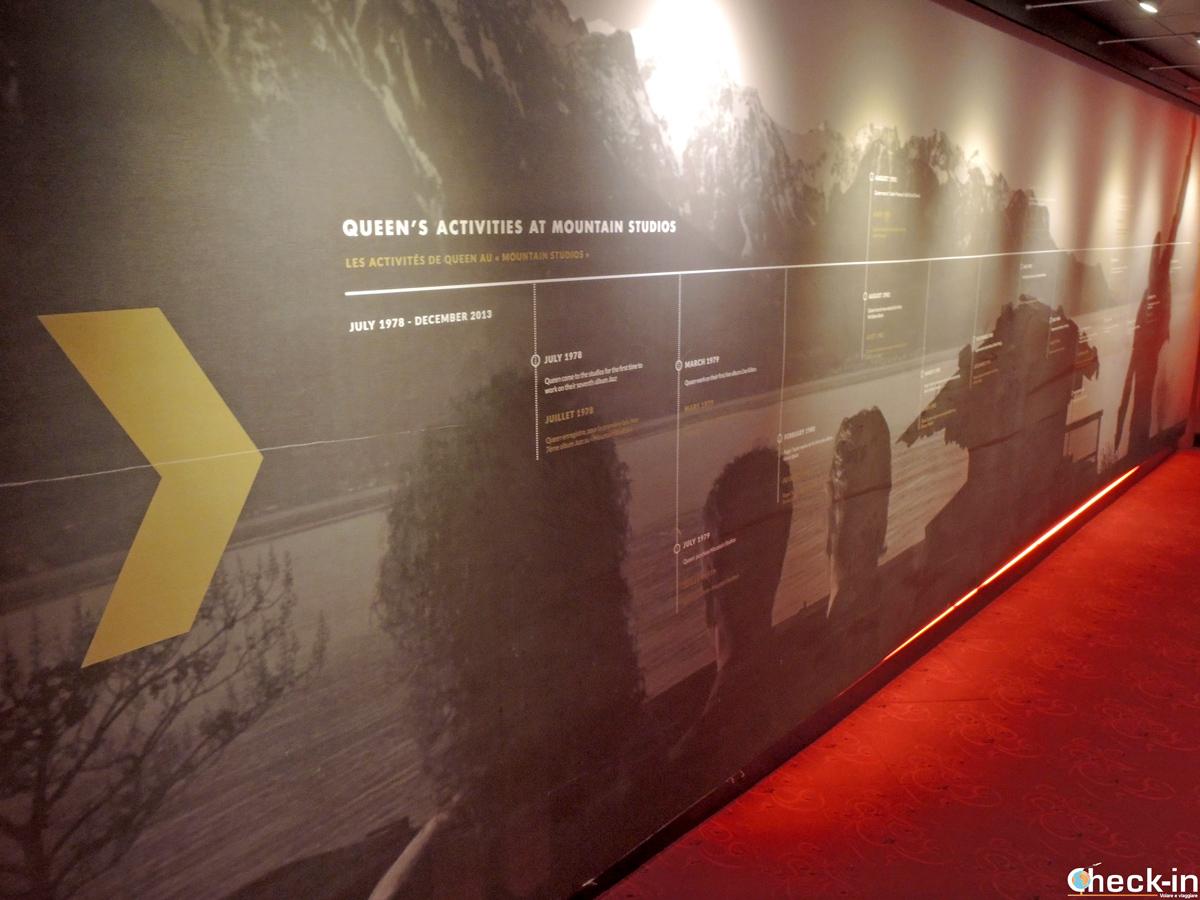 L'ingresso alla Queen - The Studio Experience nel Casinò di Montreux