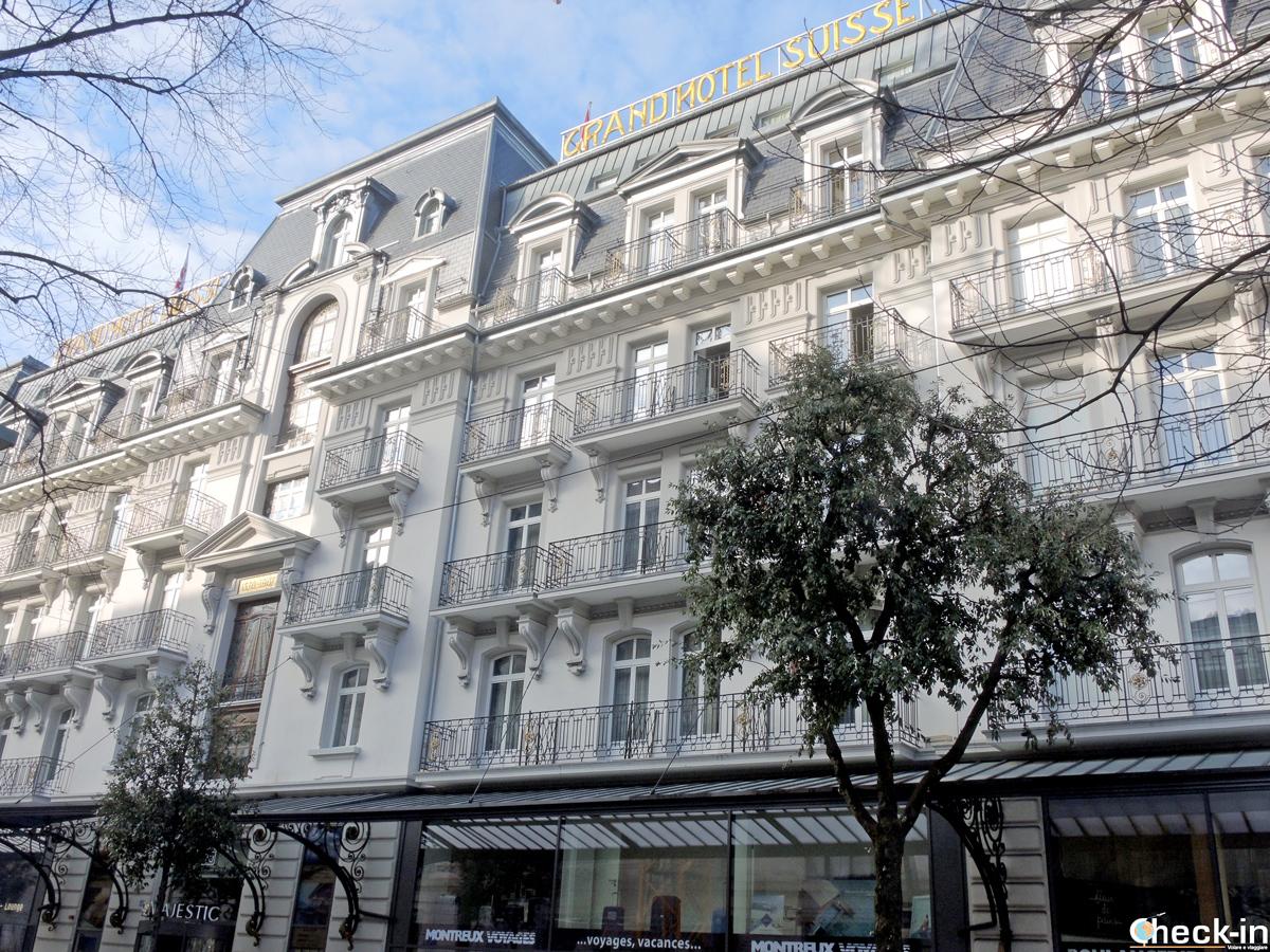 Facciata del Grand Hotel Suisse Majestic di Montreux