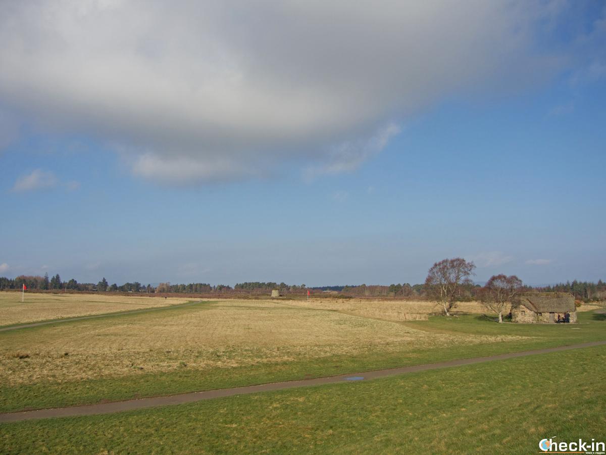 Panorama sul Culloden Battlefield prima di iniziare la visita