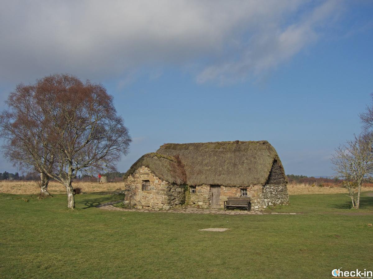 Il Leanach Cottage sul campo di battaglia di Cullonde