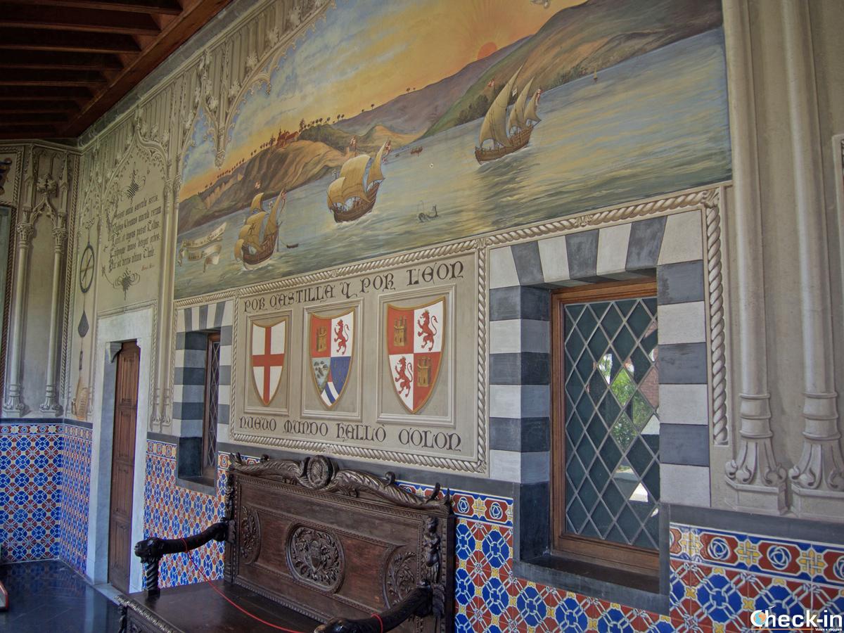 Corridoio del bastione del '500 nel Castello d'Albertis (Genova)