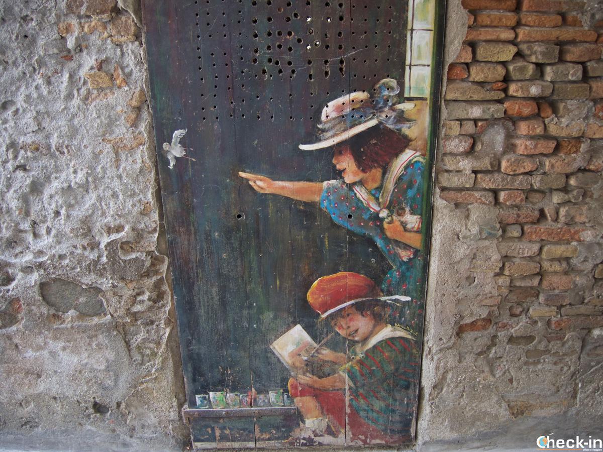 Murales all'inizio di Pozzo Garitta ad Albissola Marina