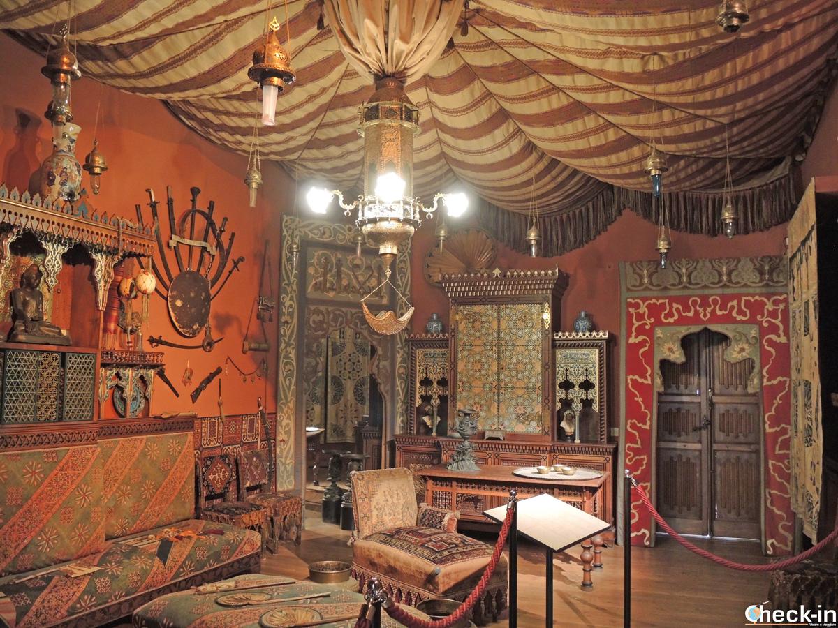 La sala Turca nel Castello d'Albertis a Genova