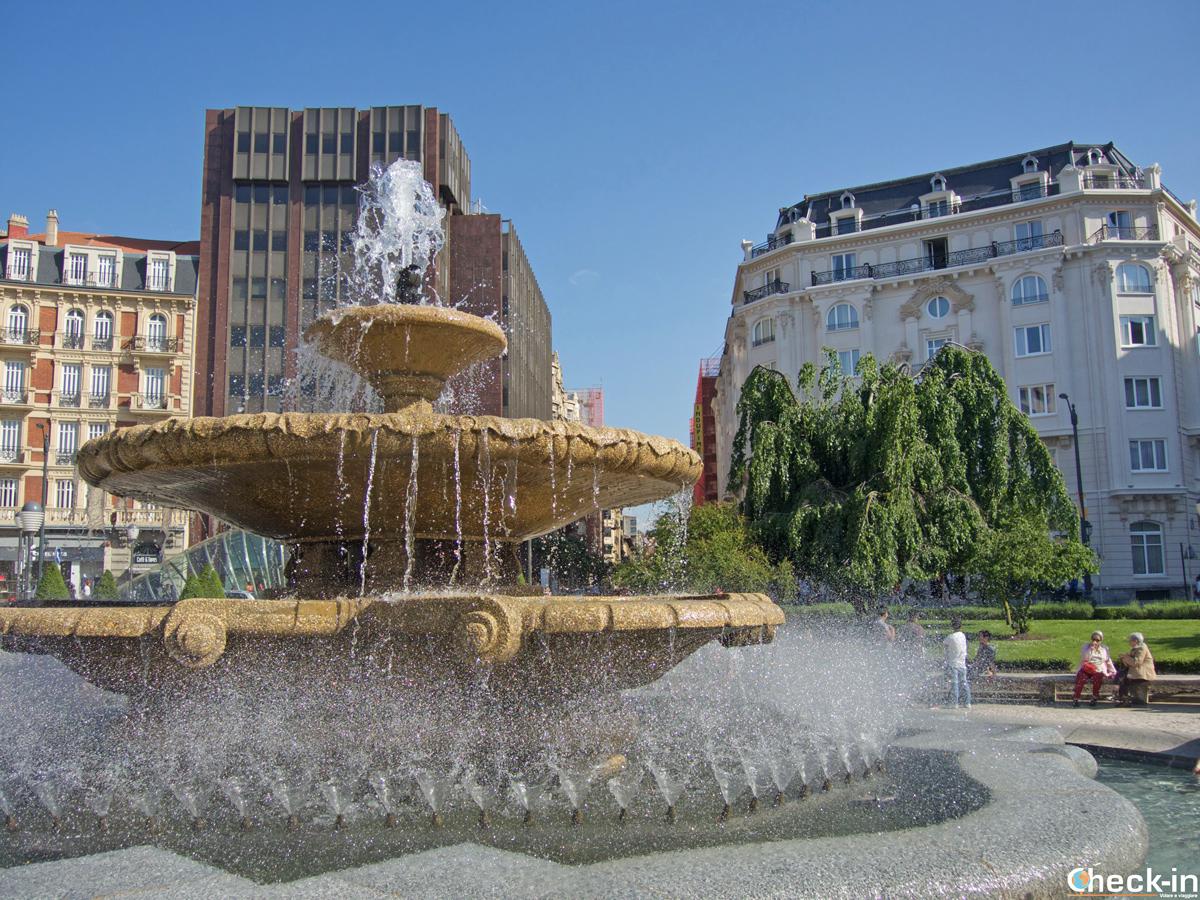 I giardinetti di Plaza Moyúa a Bilbao