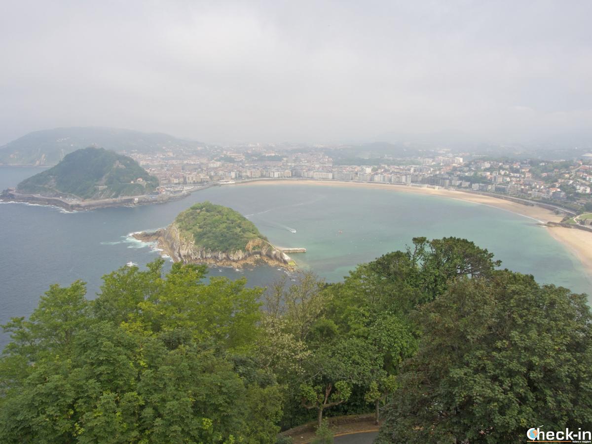 Panorama su San Sebastián dalla cima del Monte Igeldo