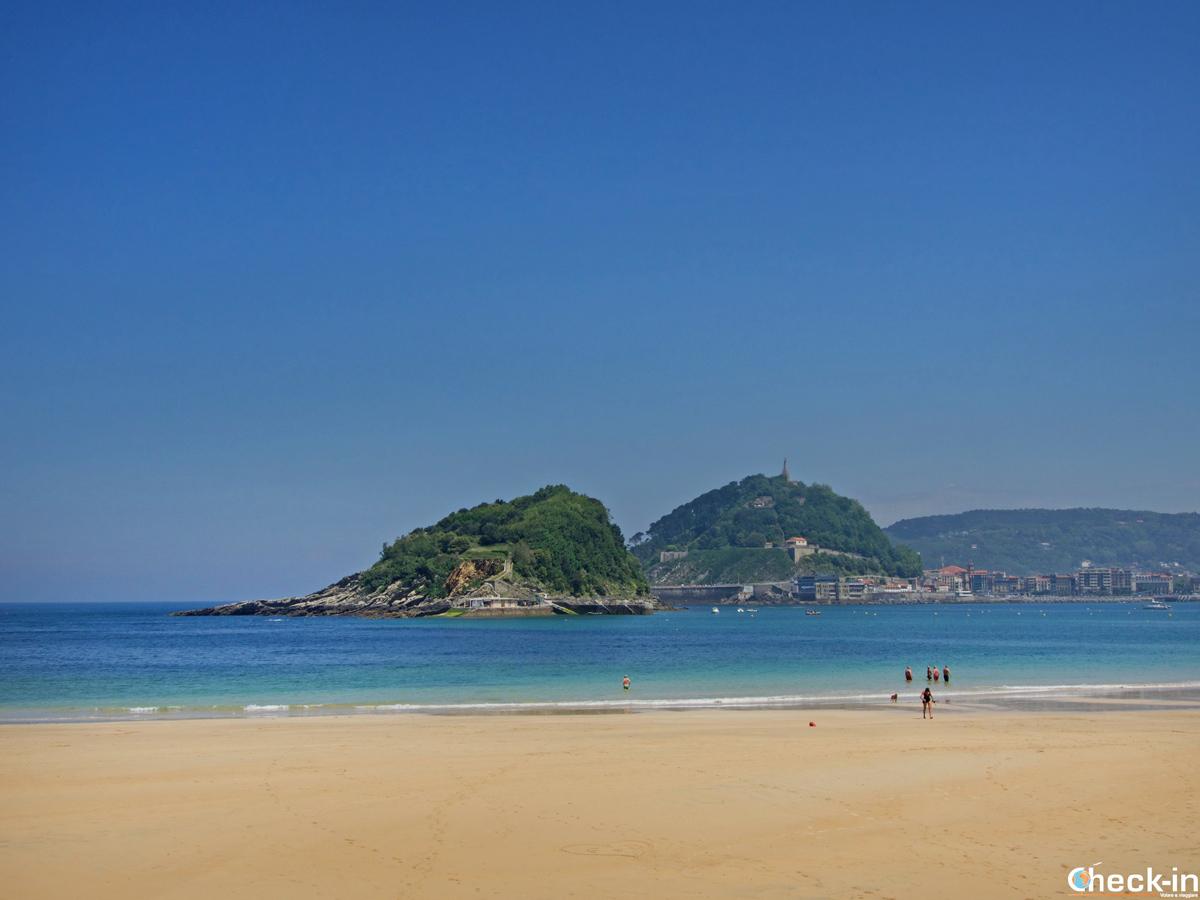 La playa de Ondarreta a San Sebastián-Donostia - Paesi Baschi, Spagna