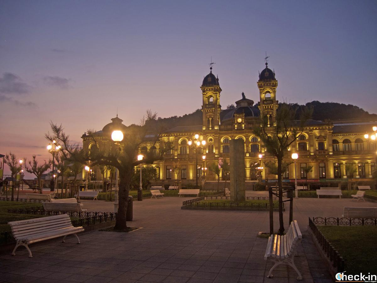 La piazza del Municipio di San Sebastián-Donostia