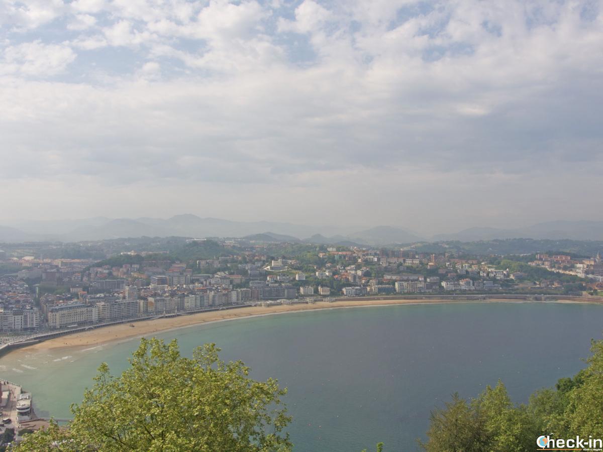 Panorama di San Sebastián dalla cima del Monte Urgull