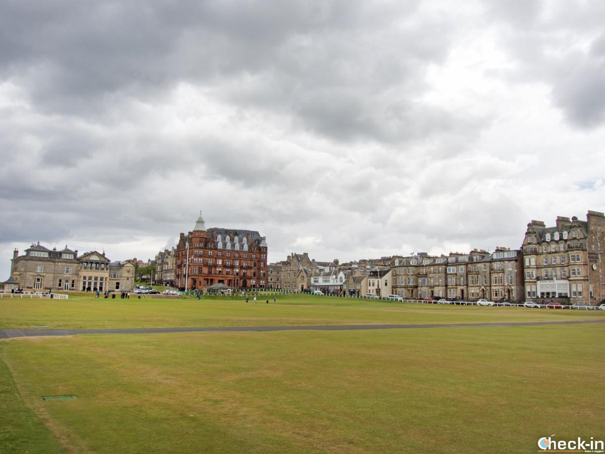 """Il caampo di golf """"Old Course"""" di St Andrews - Fife, Scozia"""