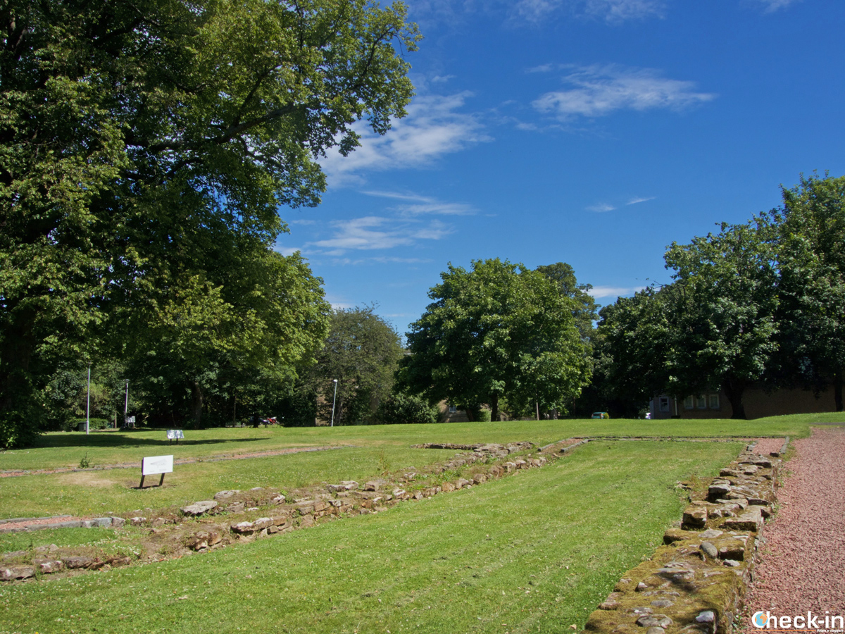 Resti romani nel villaggio di Cramond (Edimburgo)