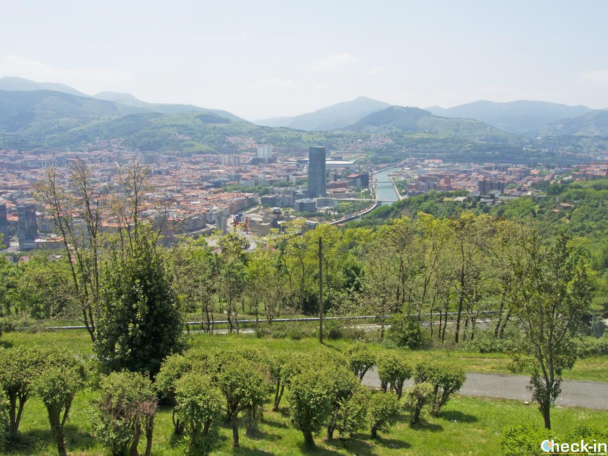 Panorama de Bilbao desde el mirador de la Artxanda
