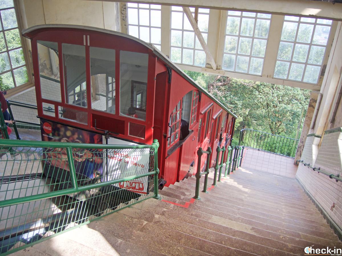 El funicular que sube al monte Igeldo