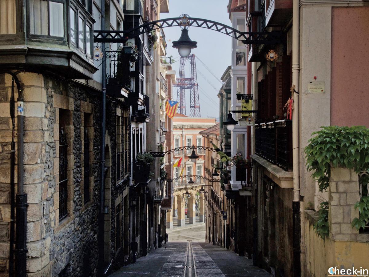 Kalea Santa María en Portugalete (Bilbao)