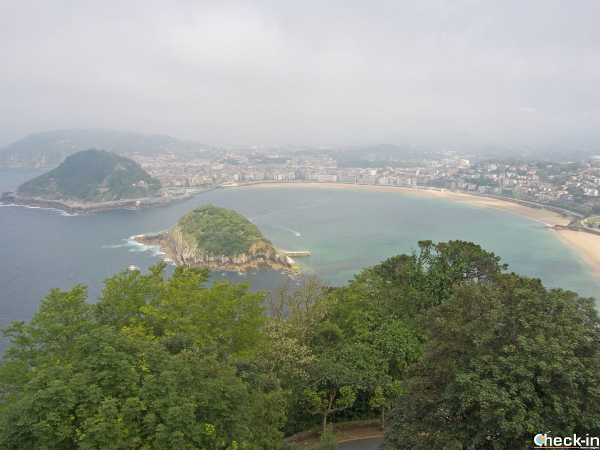 Vista panorámica de San Sebastián del monte Igeldo