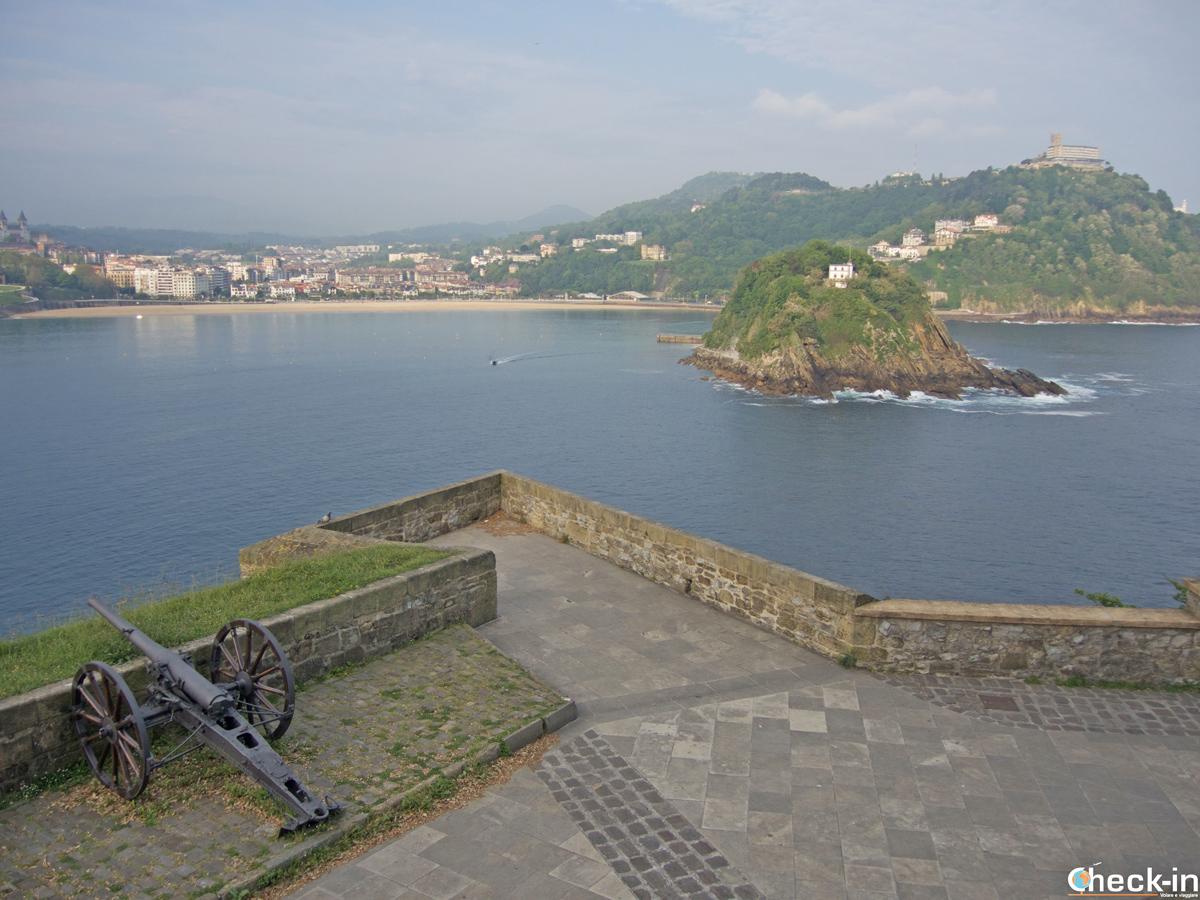 Vista de la bahía de San Sebastián del monte Urgull