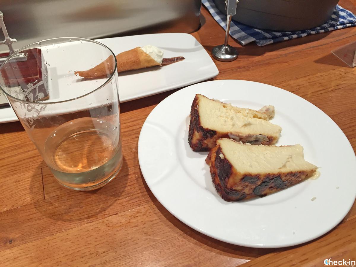 """La tarta de queso de """"La Viña"""" en San Sebastián"""
