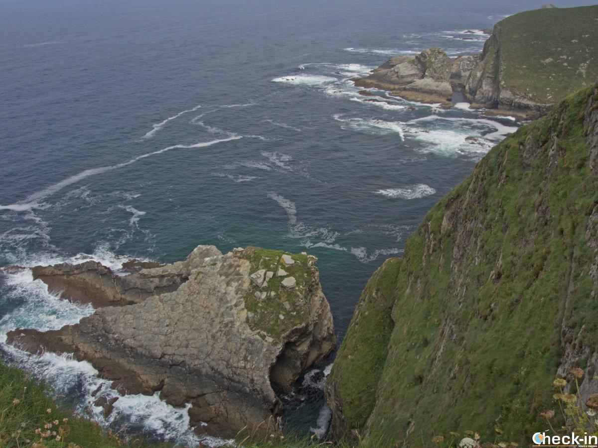 Le scogliere a Cabo Vidio - Oviñana, Asturie (Spagna)