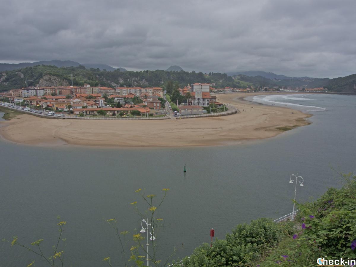 Vista panoramica di RIbadesella - Asturie, Spagna del nord