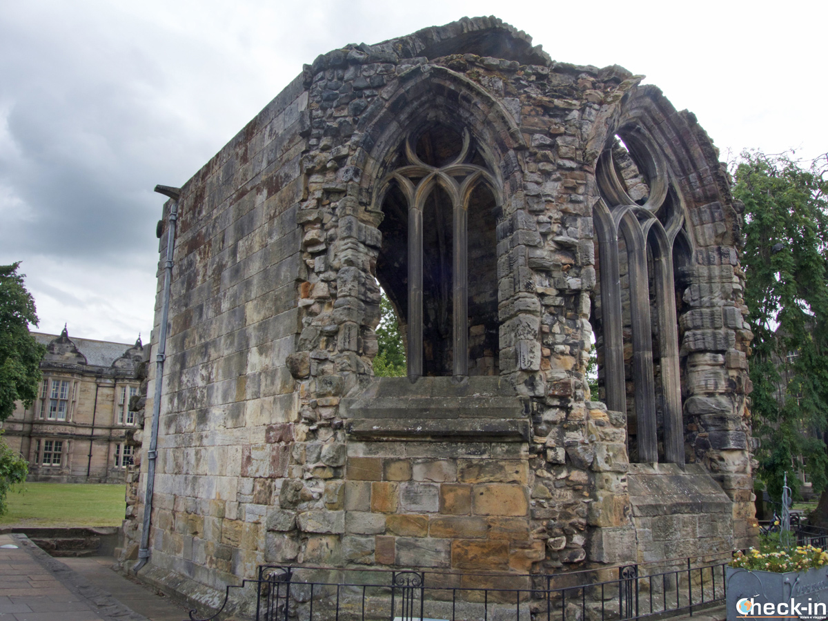 The ruins of Blackfriars Chapel in St Andrews (Scotland)