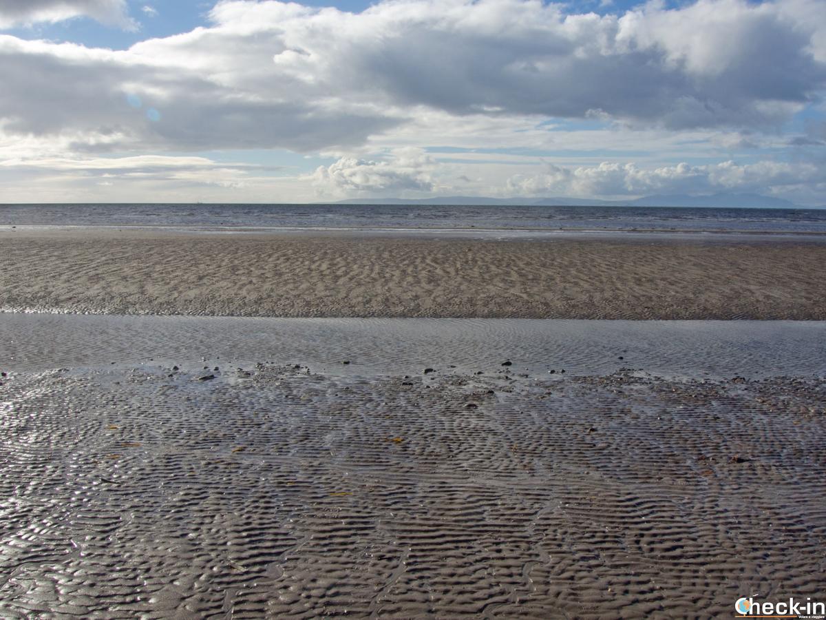 L'Ayrshire Coastal Path nei pressi di Ayr (Scozia)