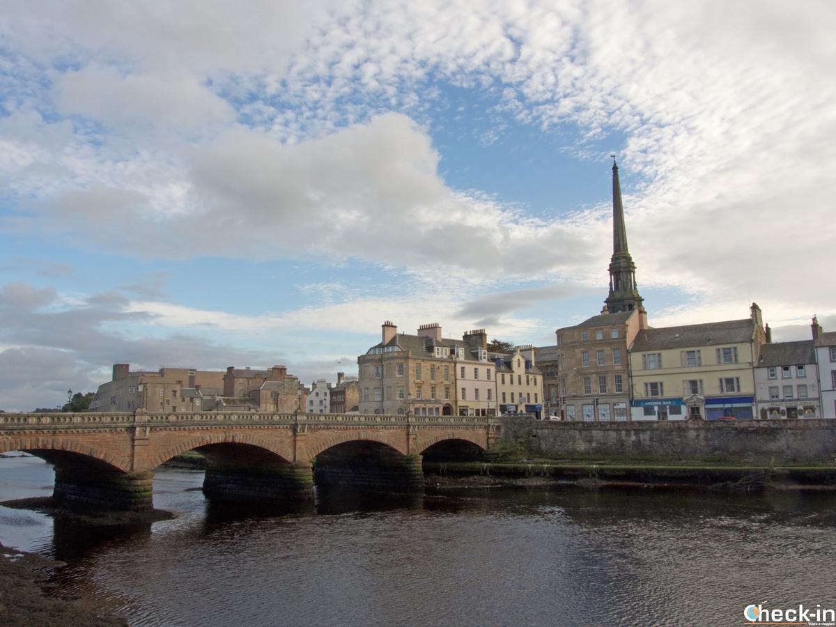 Scorcio del centro storico di Ayr (Scozia)