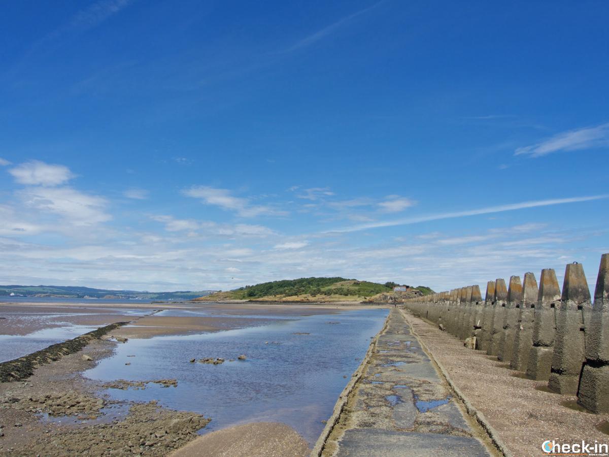The footpath to Cramond Island - Edinburgh, Scotland