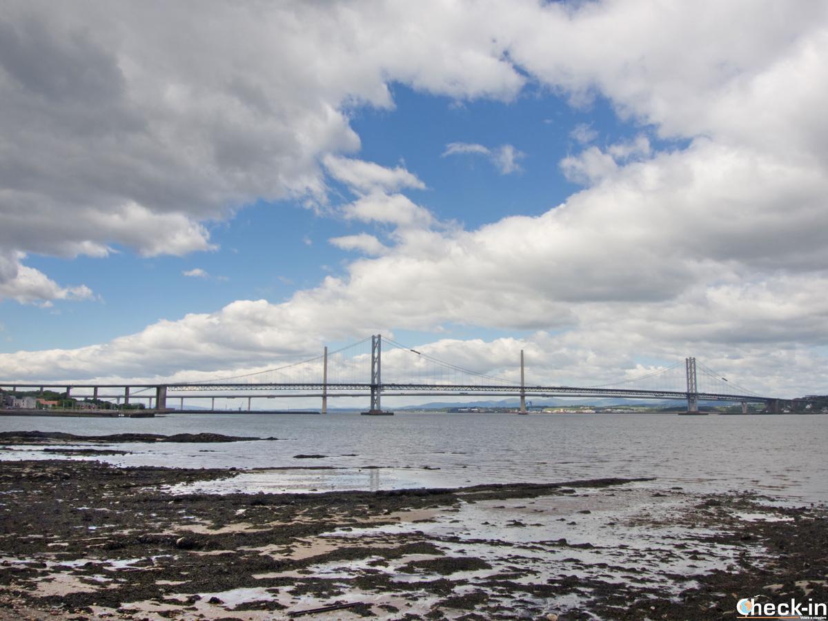 The three Forth Bridges in South Queensferry - Edinburgh, Scotland