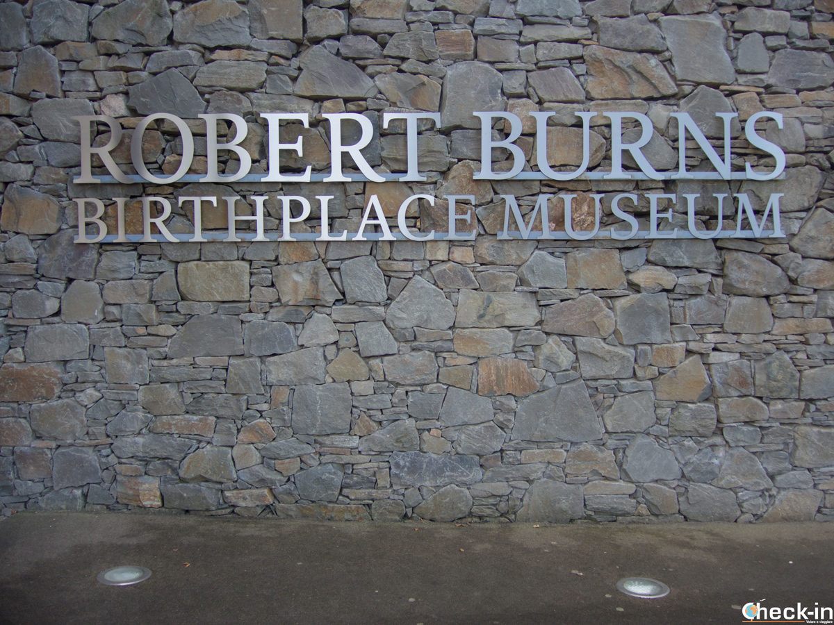 Ingresso del museo di Robert Burns a Alloway (Ayrshire)