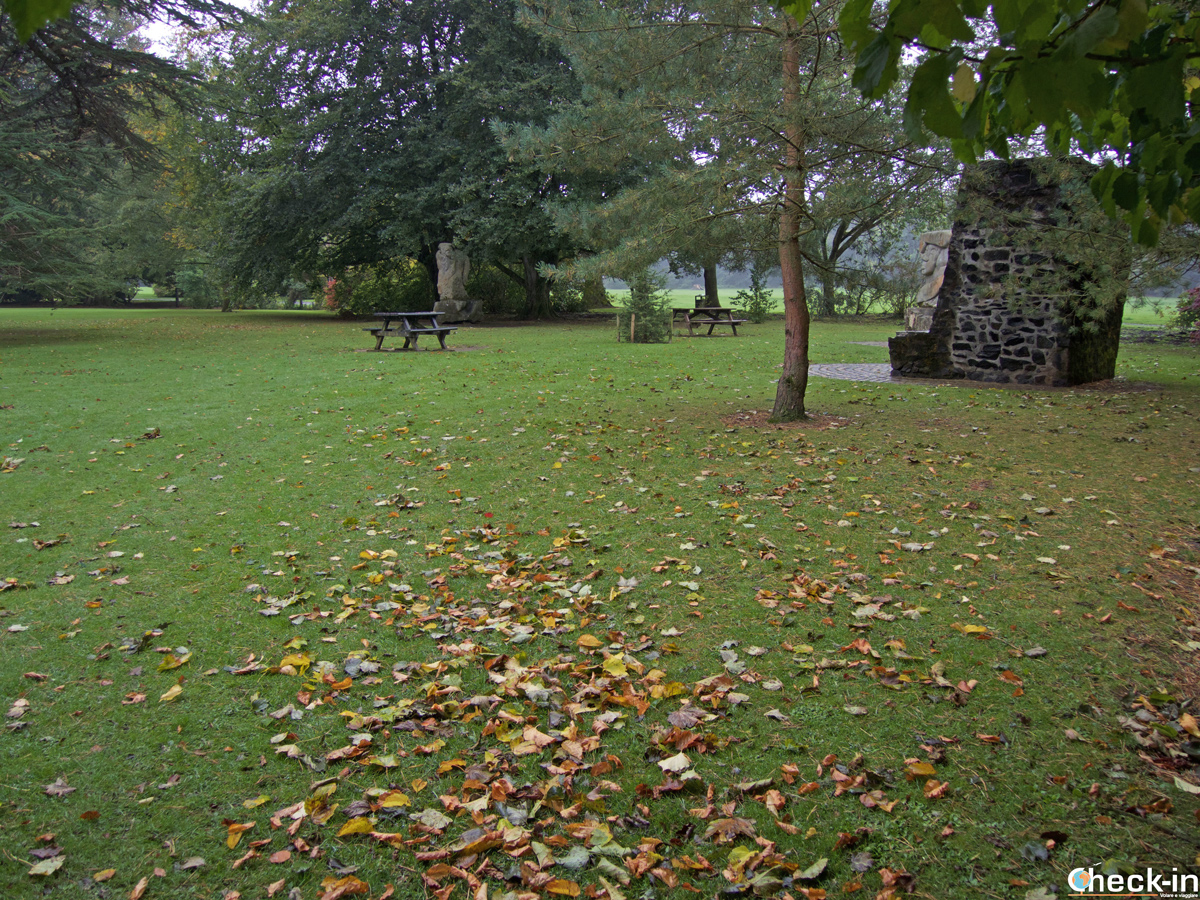 Prime tinte autunnali nel Rozelle Park ad Ayr (Scozia)