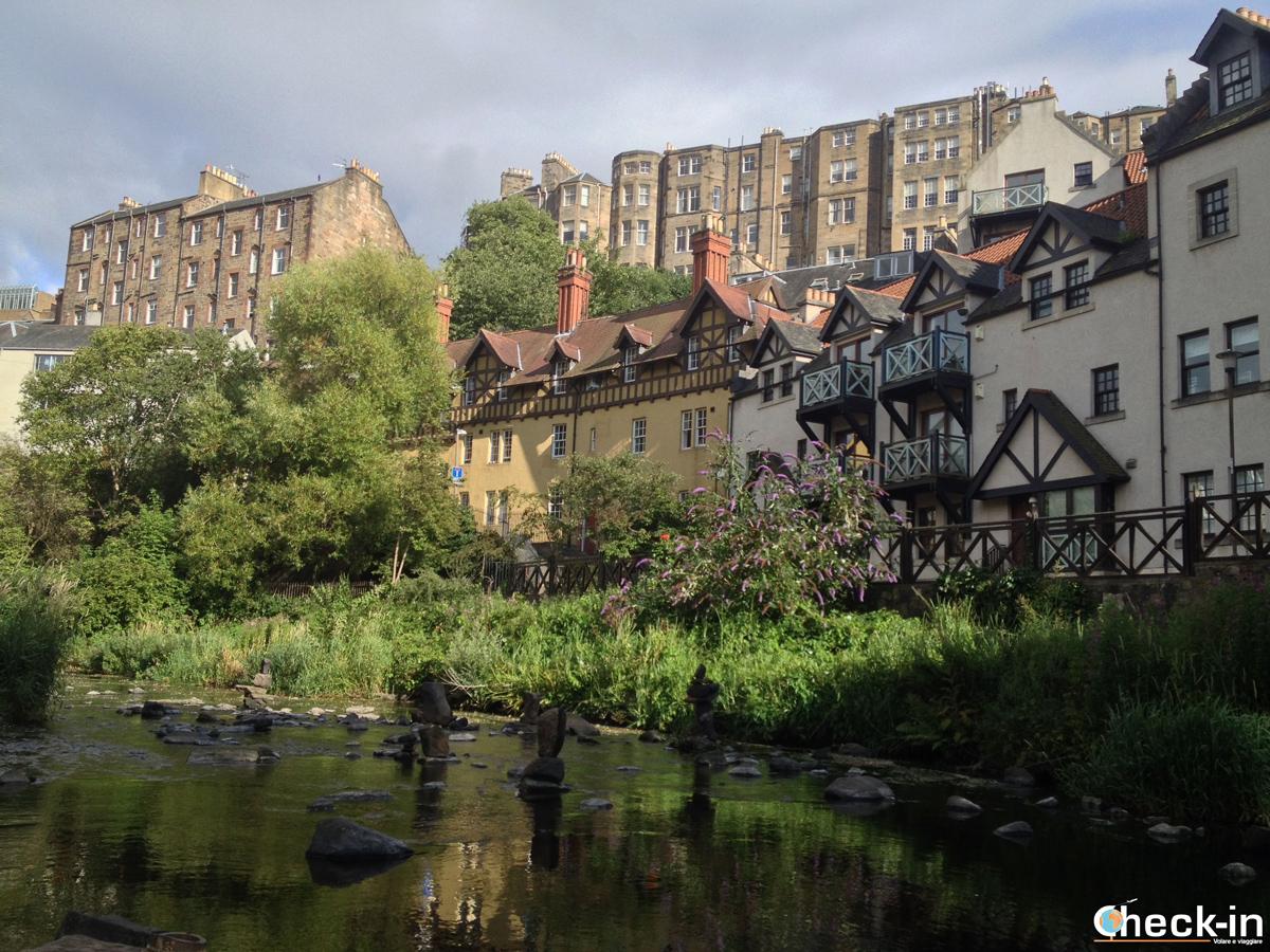 Sight of Dean Village in Edinburgh