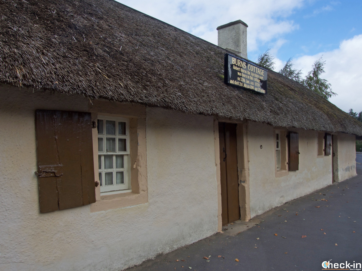 Il Robert Burns Cottage a Alloway - Ayrshire, Scozia