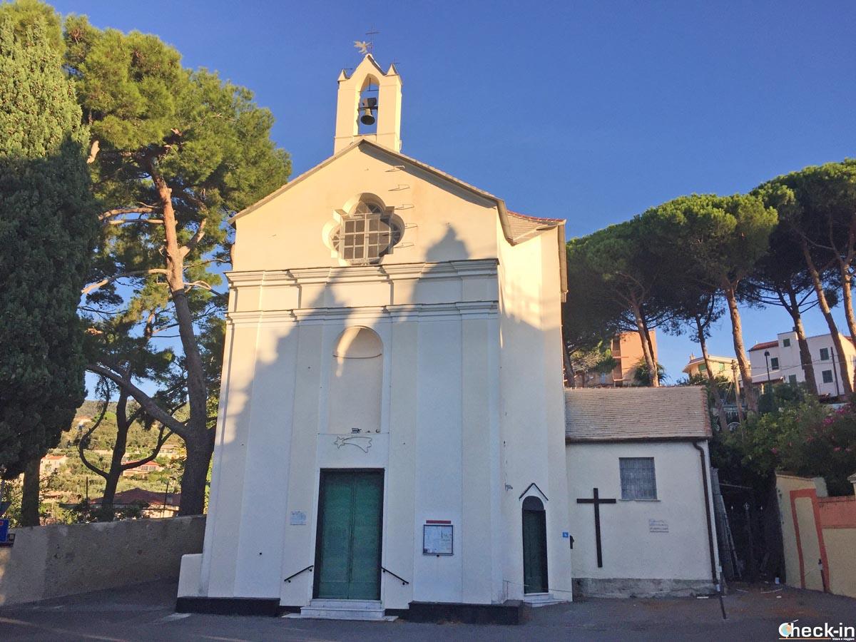 L'Oratorio di Santa Caterina nel parco Monticello di Spotorno