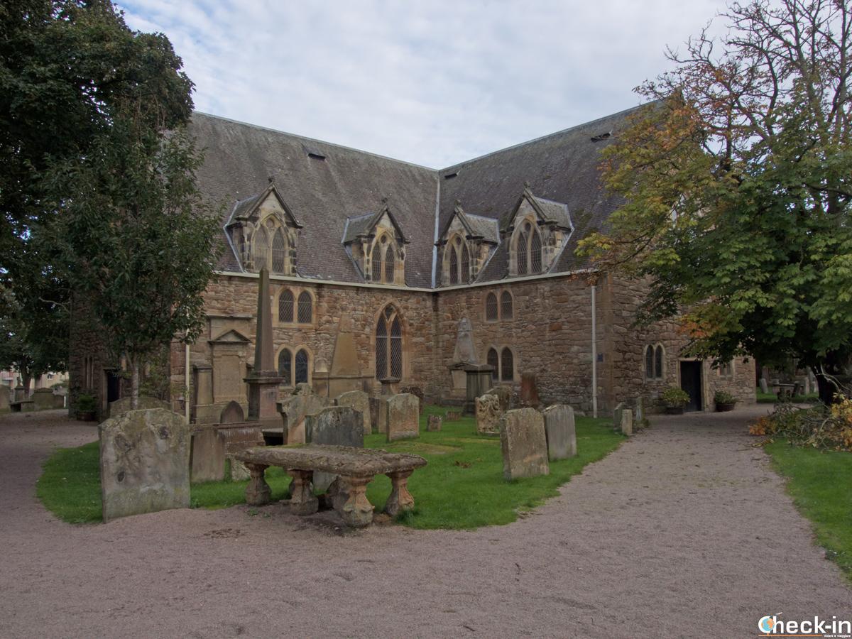 L'Auld Kirk nel centro storico di Ayr (Scozia)