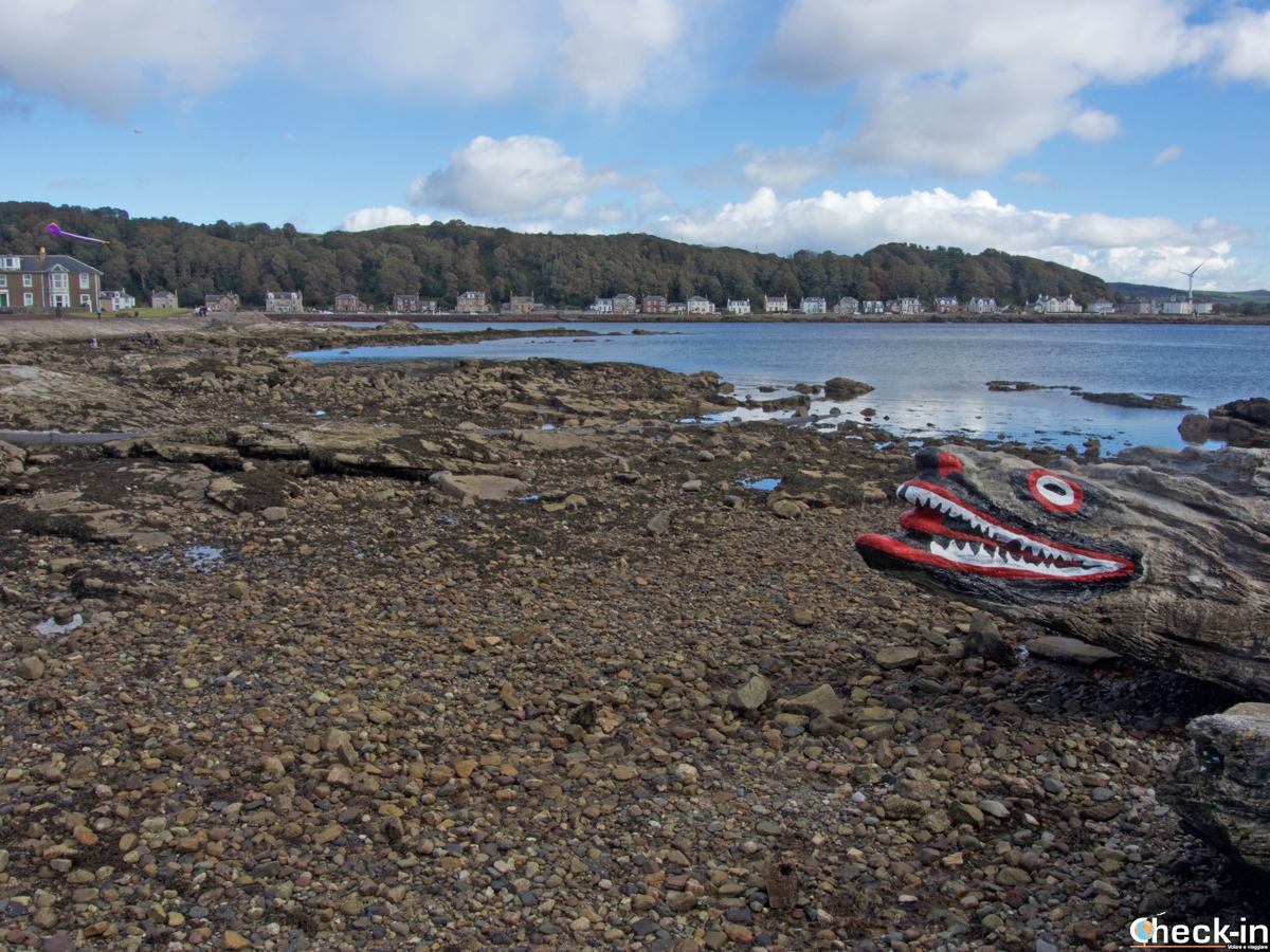 "La ""Crocodile Rock"" a Millport - Great Cumbrae, Scozia"