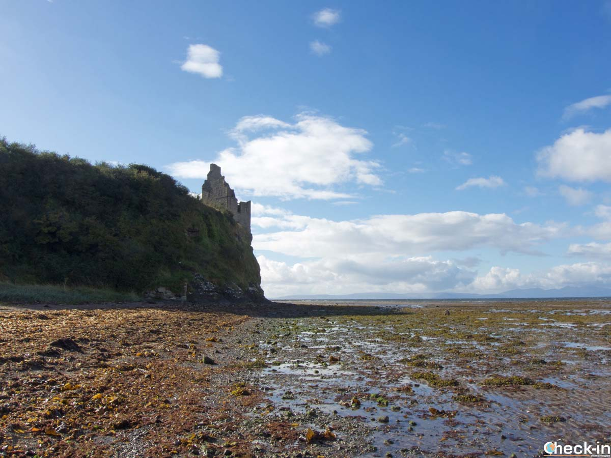 Greenan Castle in the south of Ayr (Scotland)