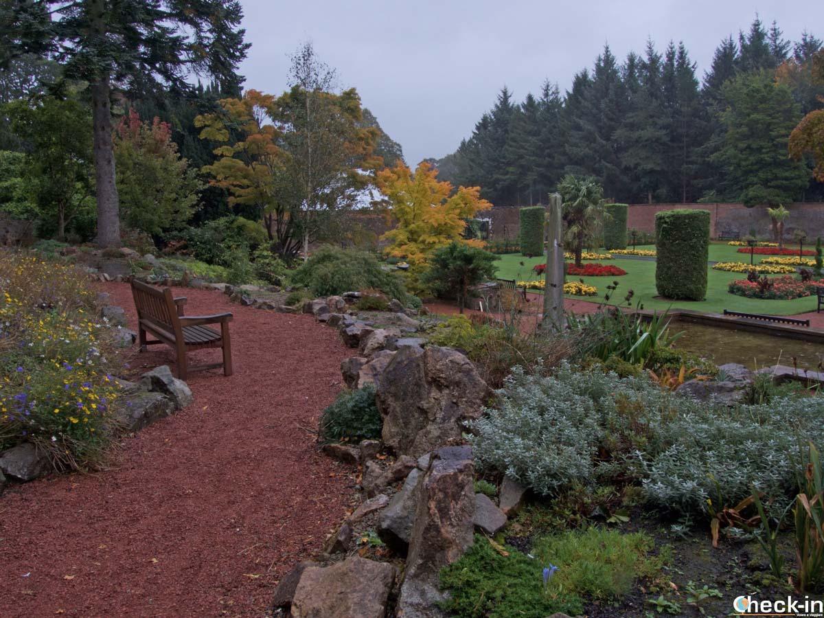 The walled garden at Belleisle Park in Ayr, Scotland