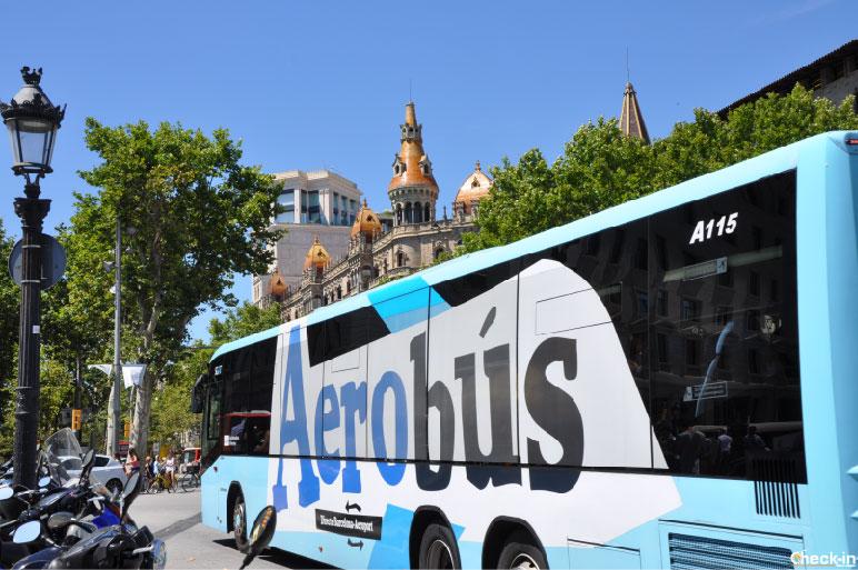 Collegamenti in autobus tra l'Aeroporto di Barcellona El Prat e Plaça Catalunya